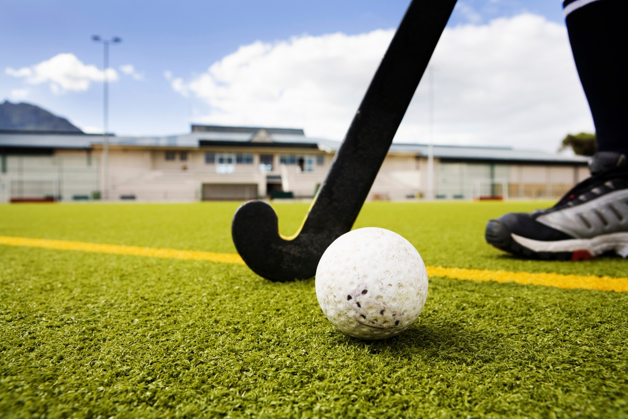 Sand filled synthetic grass is the ideal solution for an artificial hockey surface.