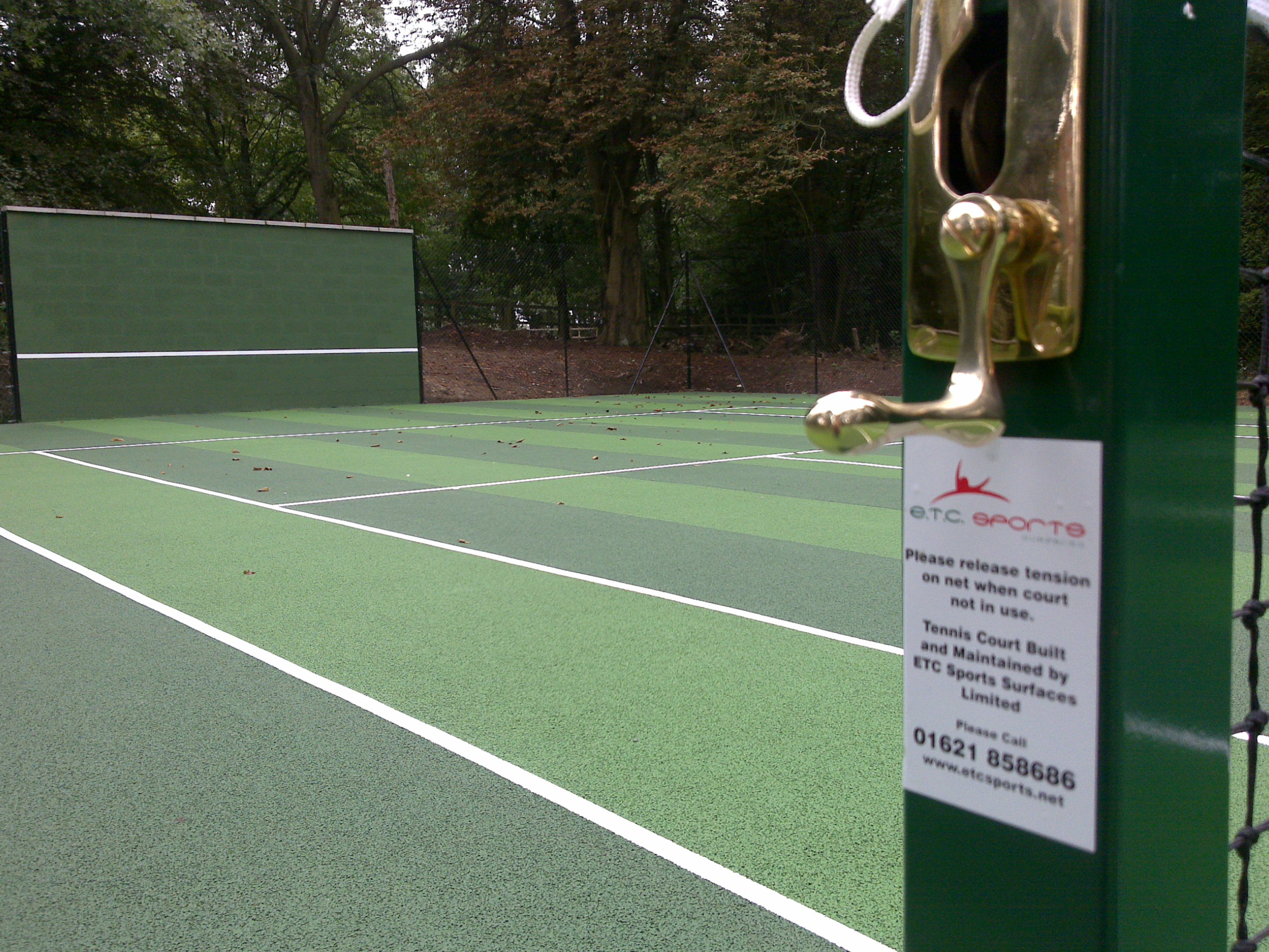 We offer a full range of customised fencing for asphalt tennis courts