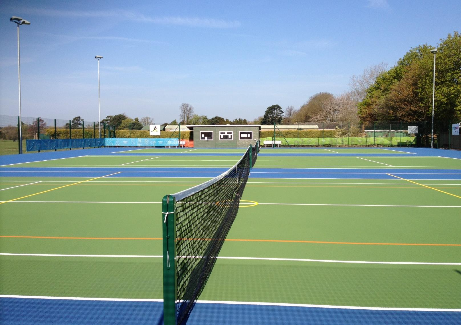 Complete your hard tennis courts with finishing equipment including nets and rebounds
