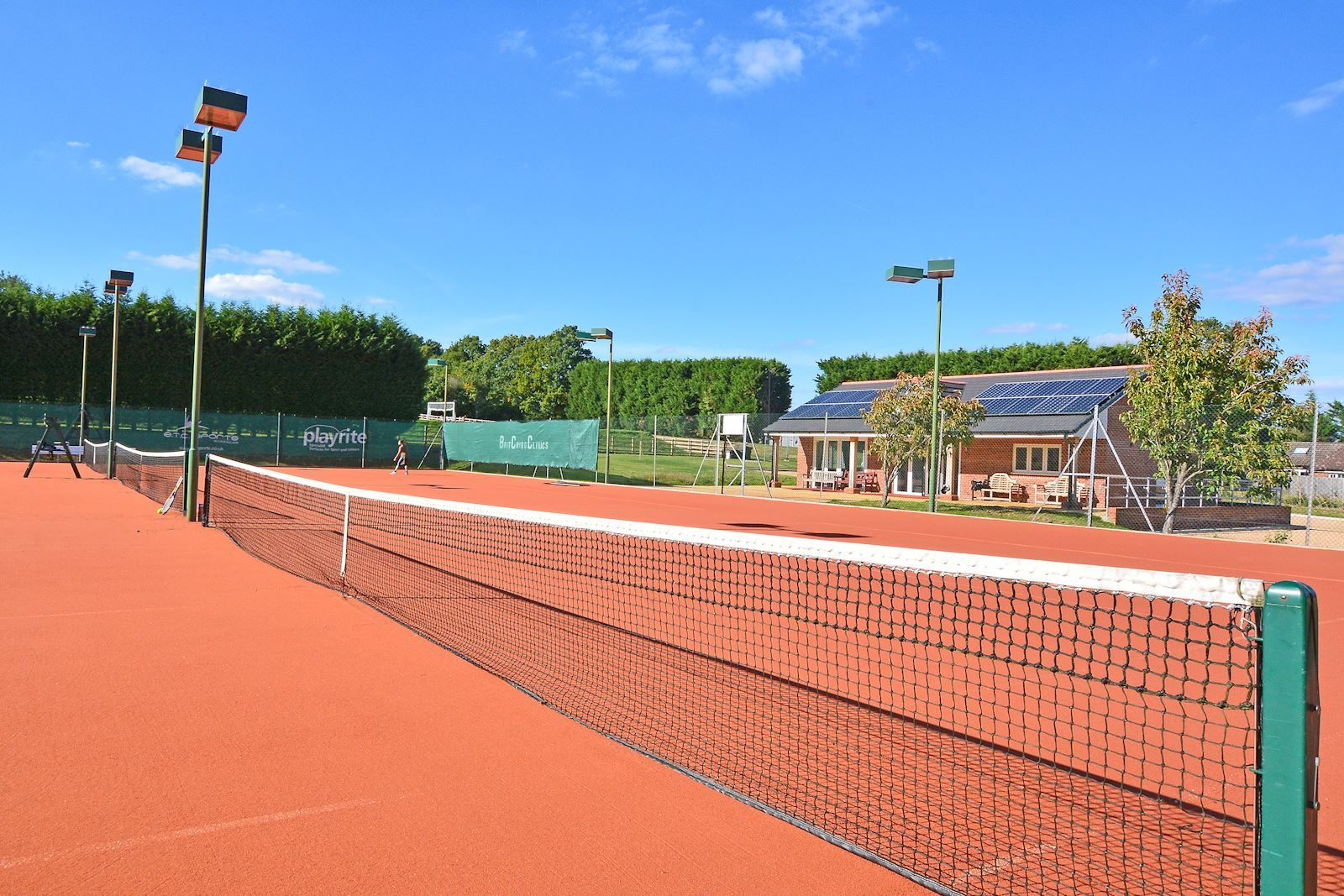 Artificial clay provides the right high performing surface for tennis, whilst being easy to maintain.