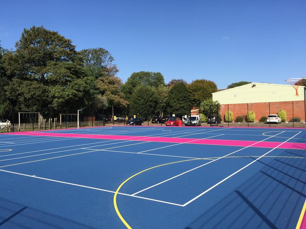 MUGA Pitch Construction Services, Image of Tennis Court Construction (1)