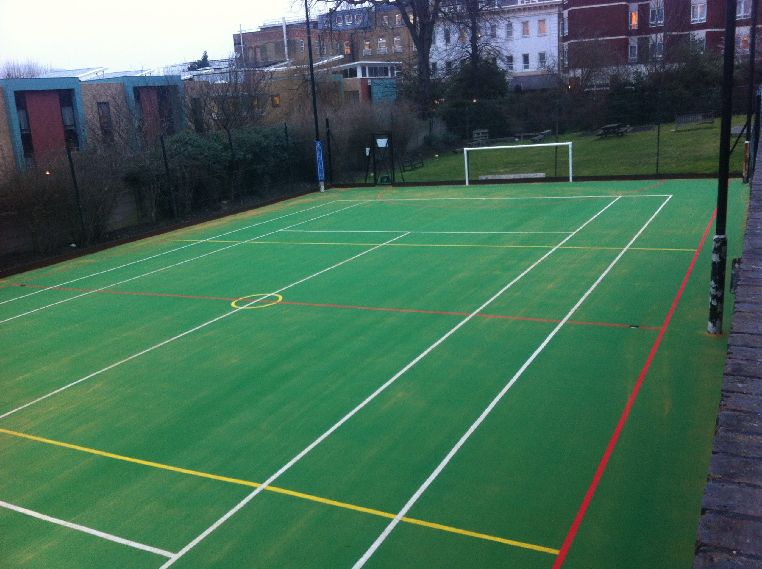 We're experts in the design and installation of MUGA surfaces for venues where space is at a premium.