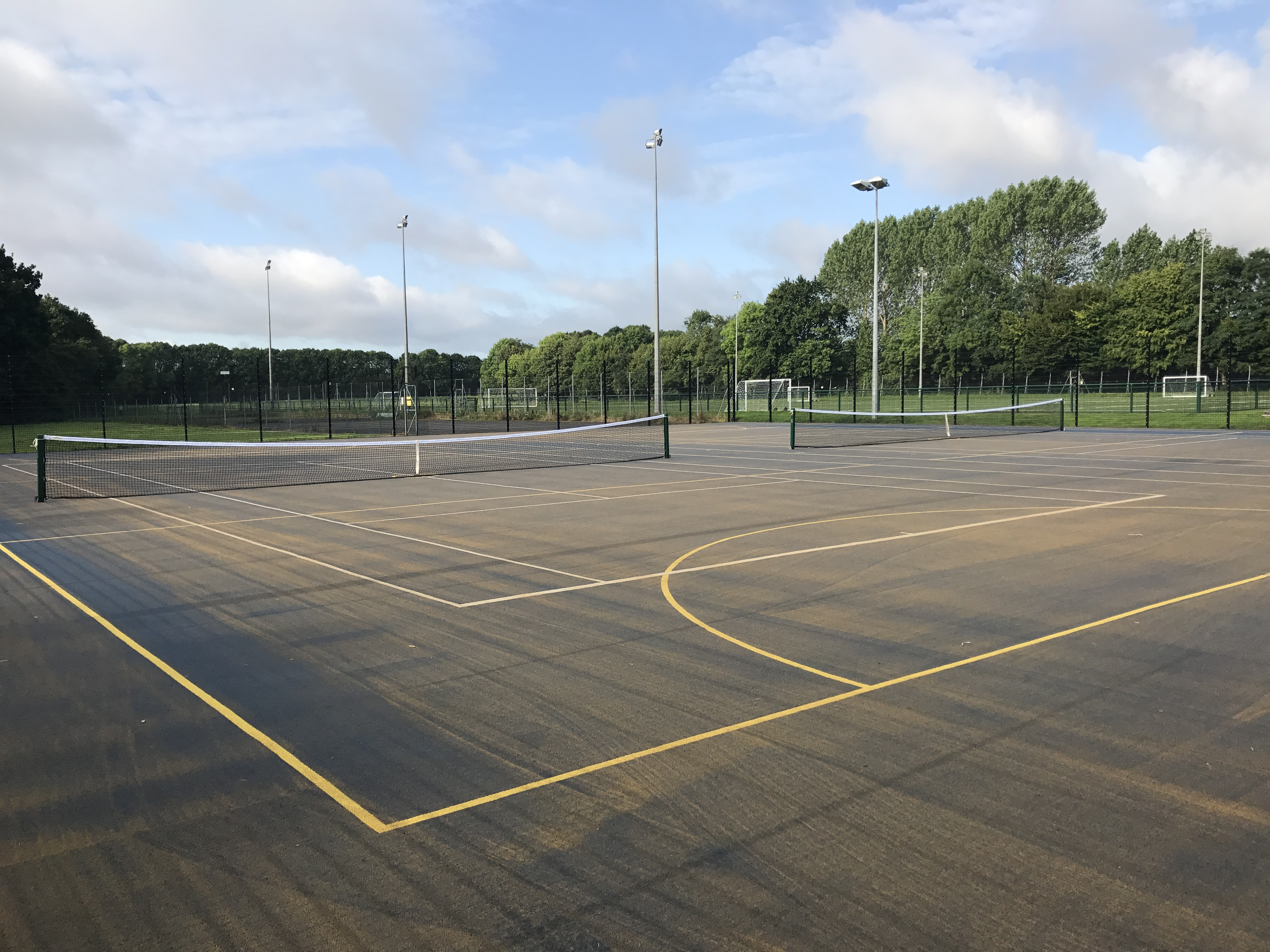 Needle punched carpets are a great solution for artificial tennis courts in the UK
