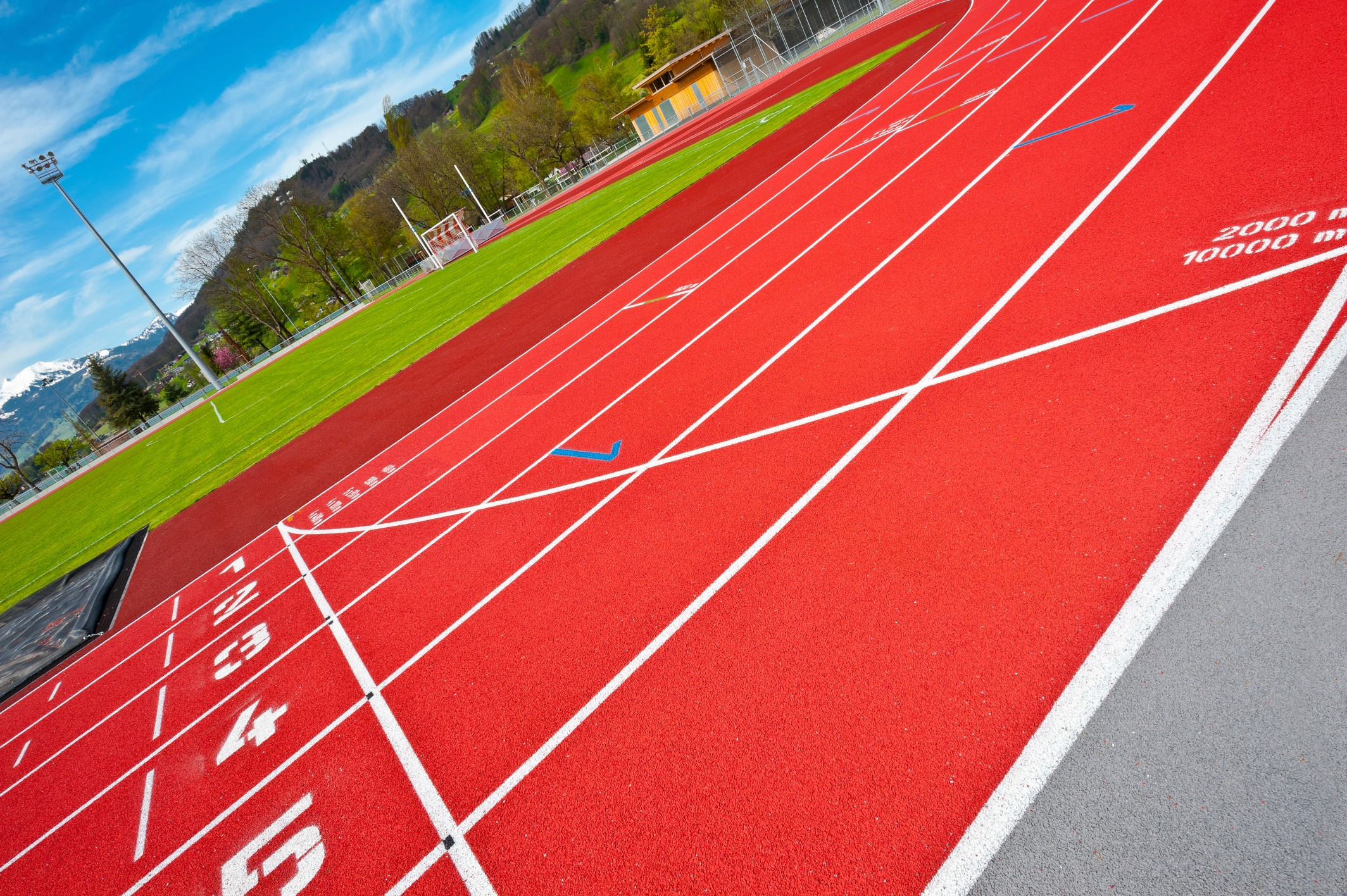 ETC Sports Surfaces designs and installs professional standard rubber running tracks for leading athletics facilities.