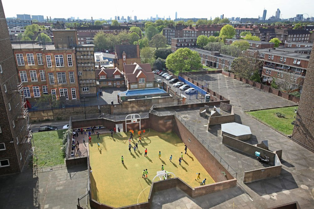 Space saving MUGA surfaces are the ideal solution for smaller sporting venues.