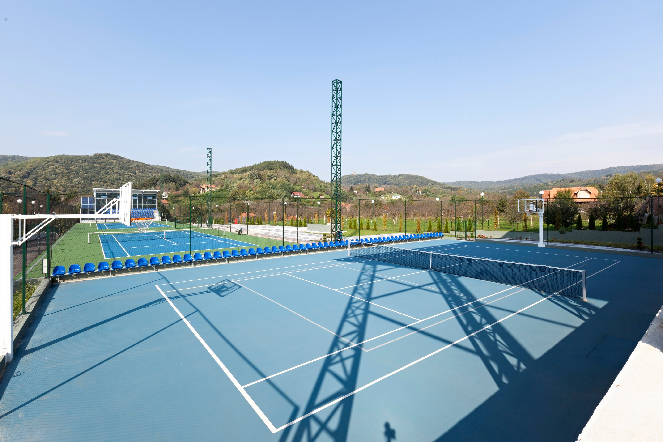 Tennis court resurfacing restores your courts to optimum condition and is relatively inexpensive