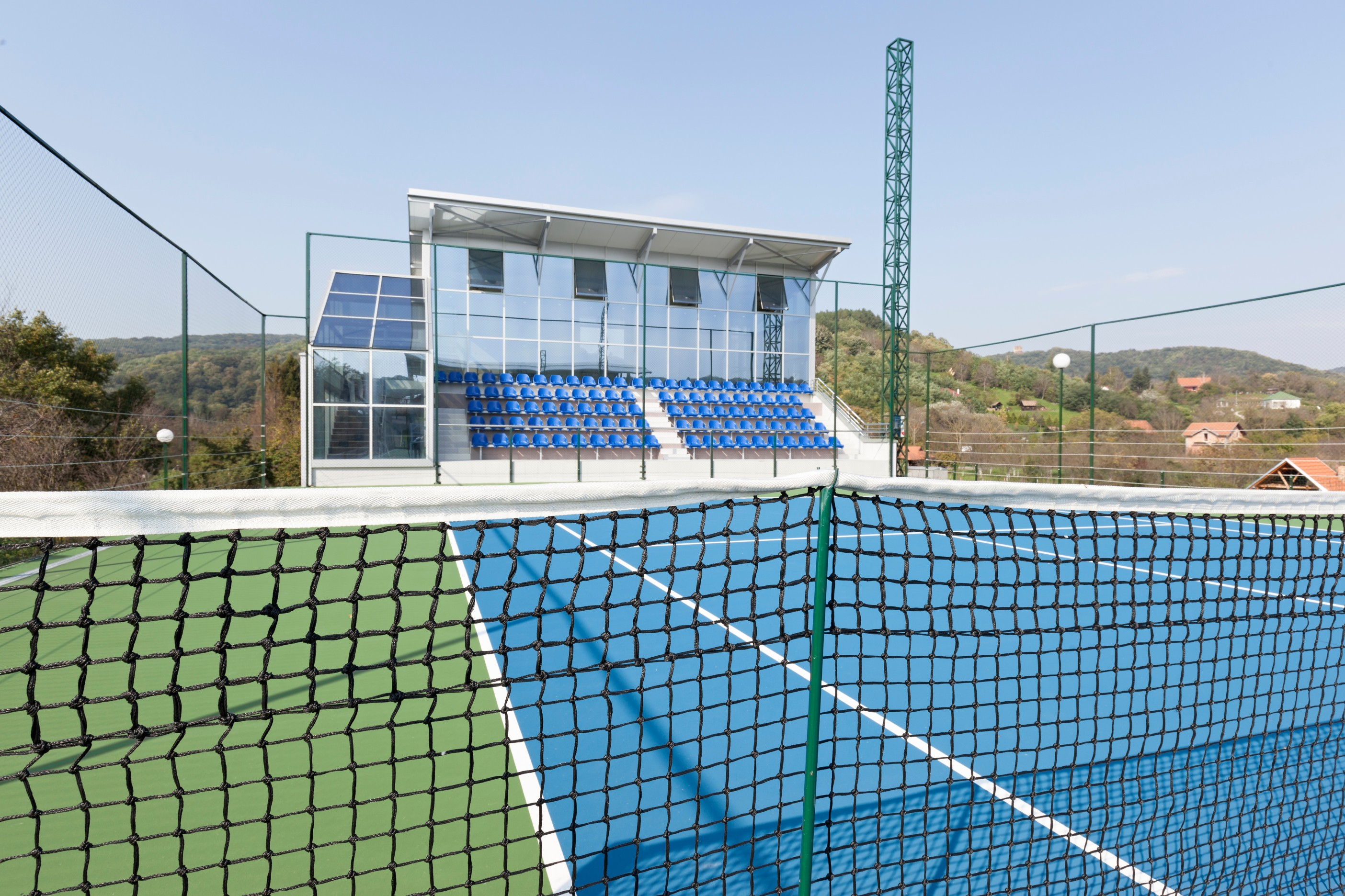 ETC sports surfaces installs many types of tennis courts, plus fencing and other finishing equipment