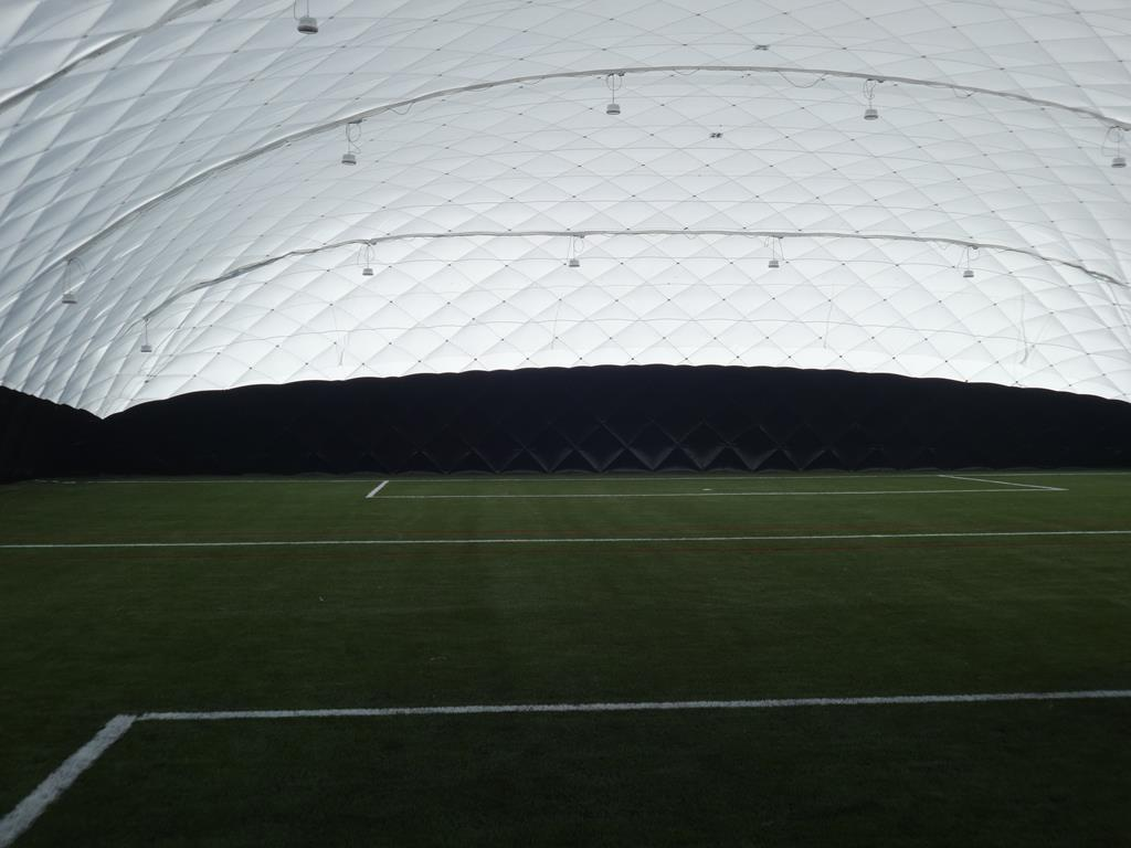 Image of a 3G Pitch Construction with Dome Facility at Great Baddow High School, Essex.