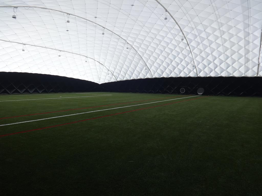 Image of 3G Sports Pitch Construction with Dome Facility at Great Baddow High School, Essex