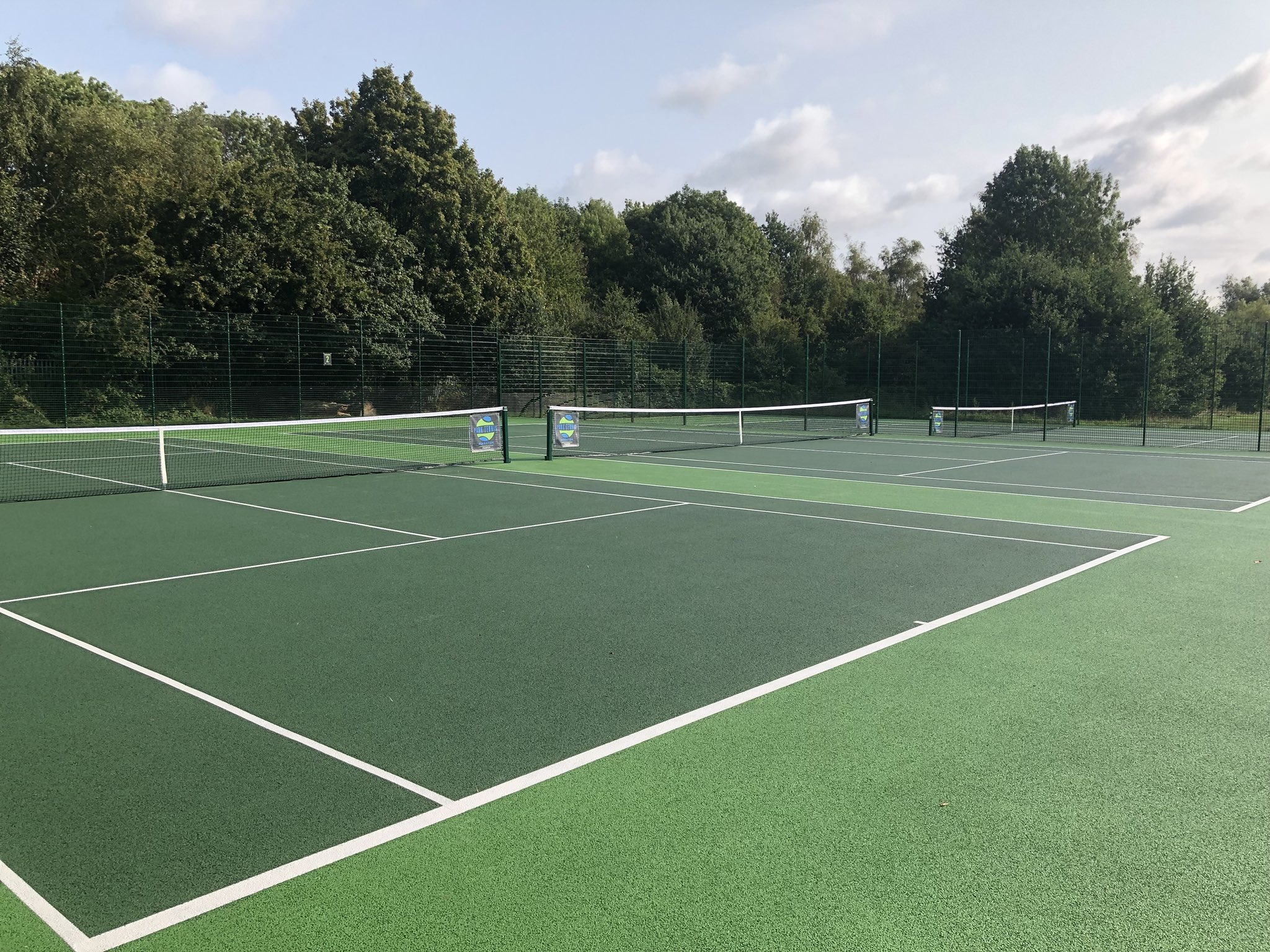 New tennis court surfaces at Surbiton Racket and Fitness Club, Beverly Park Site