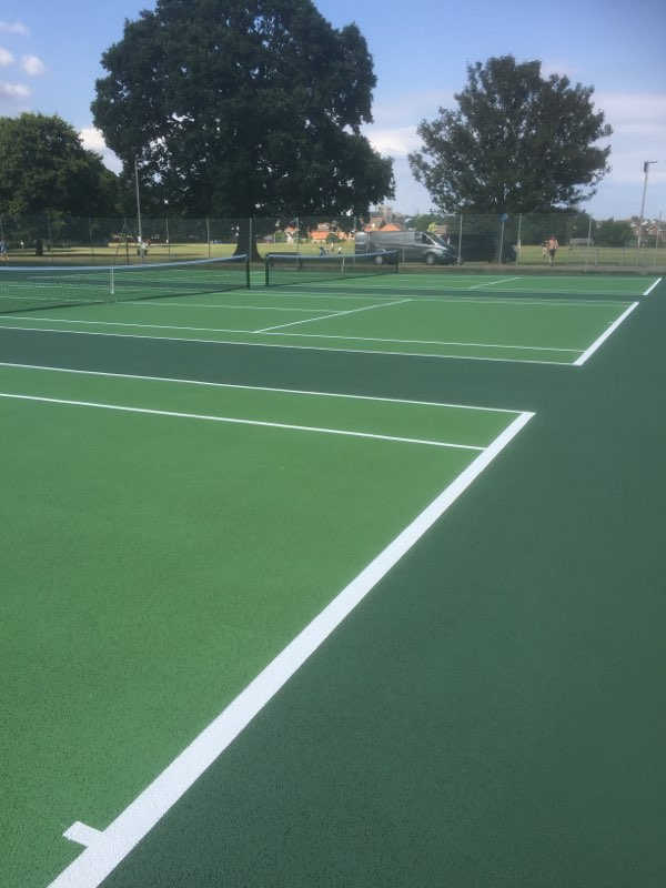 ETC Sports delivers LTA standard tennis court surfaces for Exeter City Council