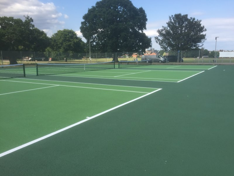 ETC Sports Surfaces completes Macadam Tennis Courts at Cowick Barton Playing Fields, Exeter