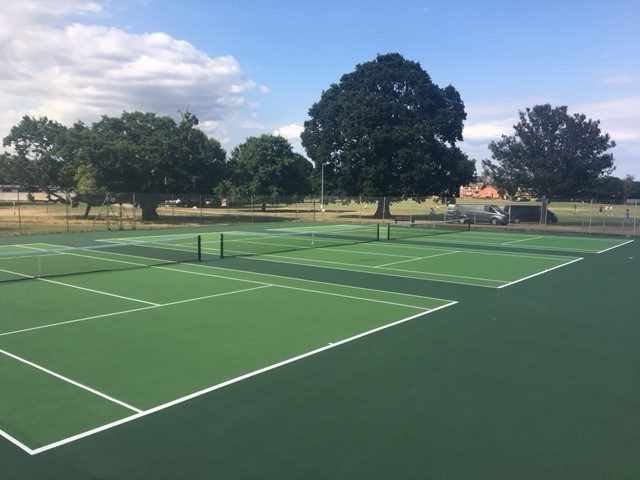 Tennis court resurfacing for Exeter City Council by ETC Sports Surfaces