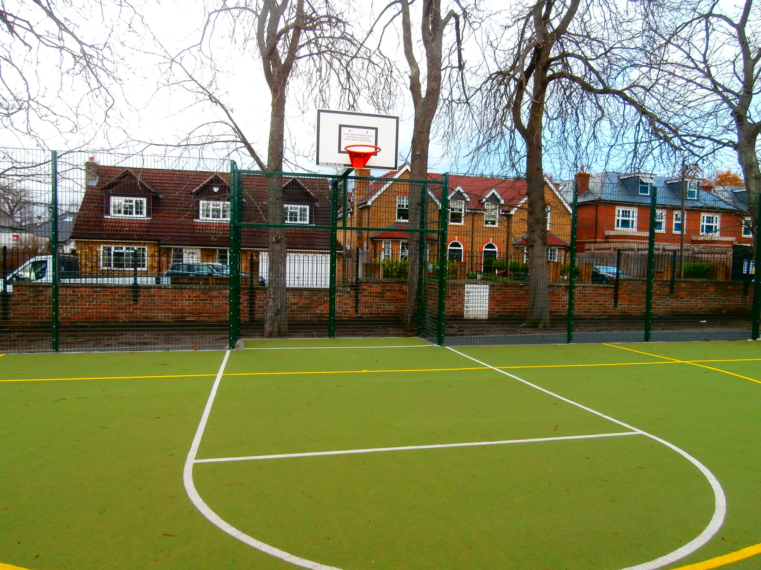 Brand new double wire fencing for Royal Kent School in Surrey