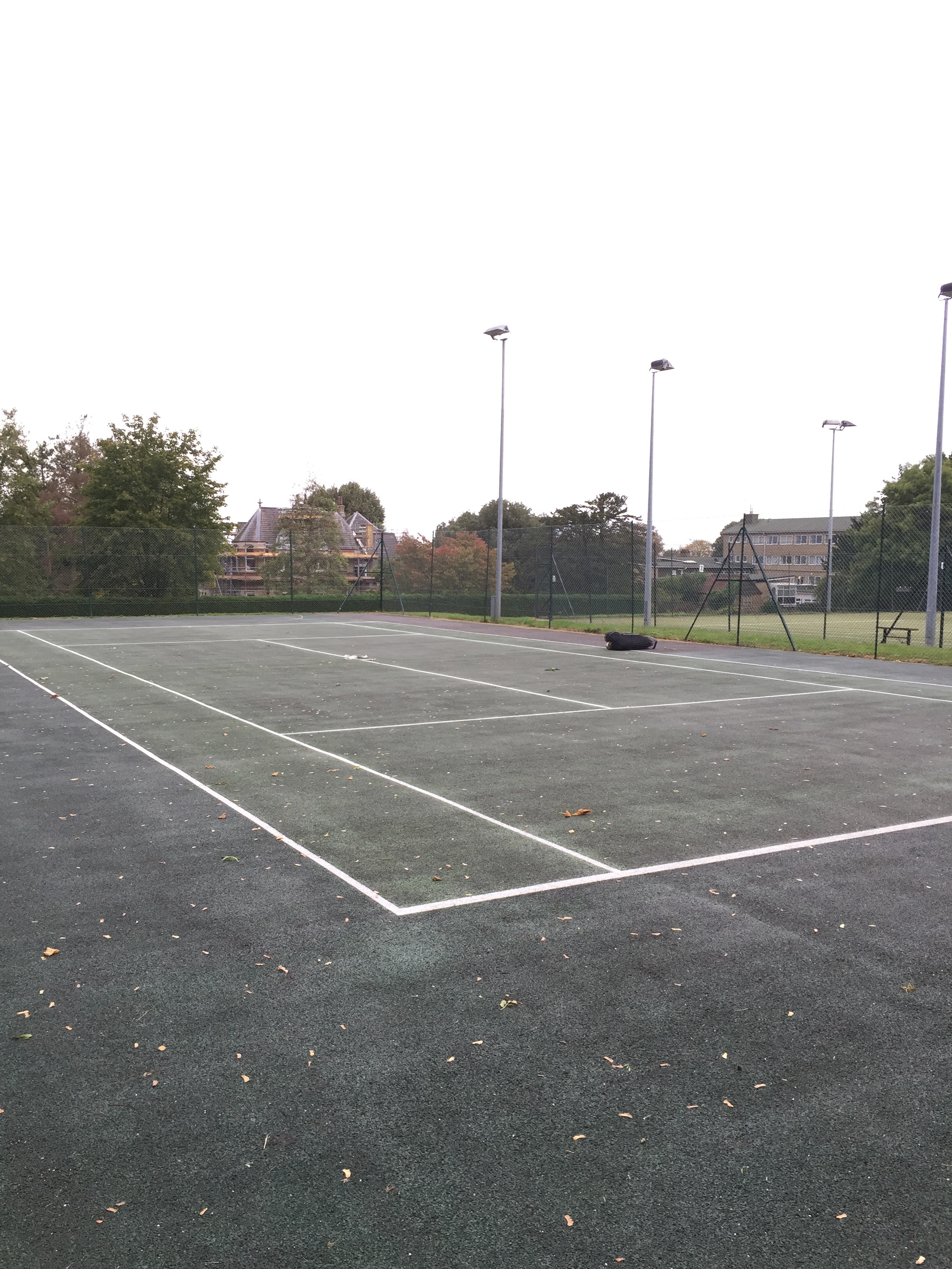 Muswell Hill tennis court surfaces before refurbishment