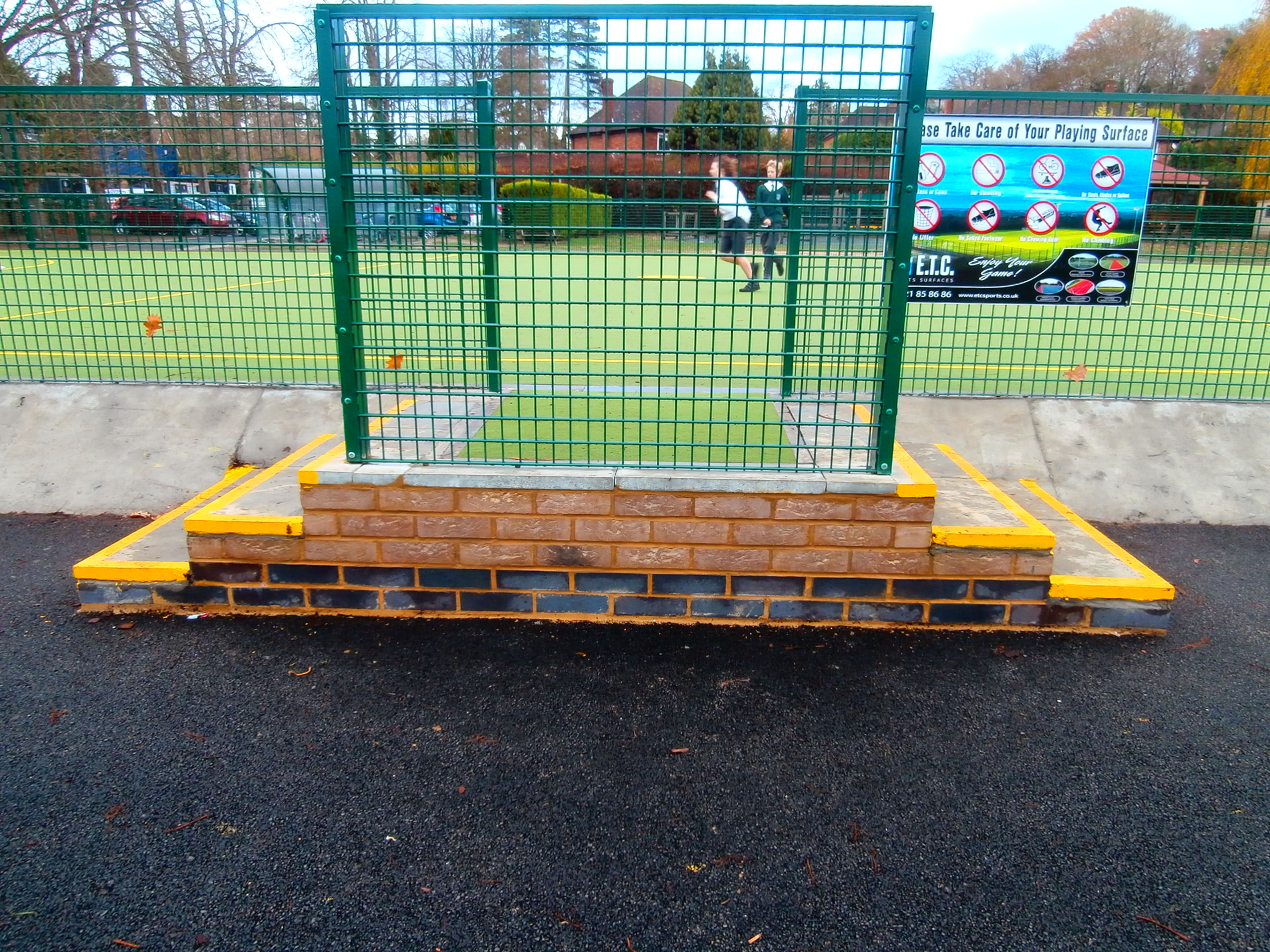 Secure gating to protect a Surrey school's multi use games area