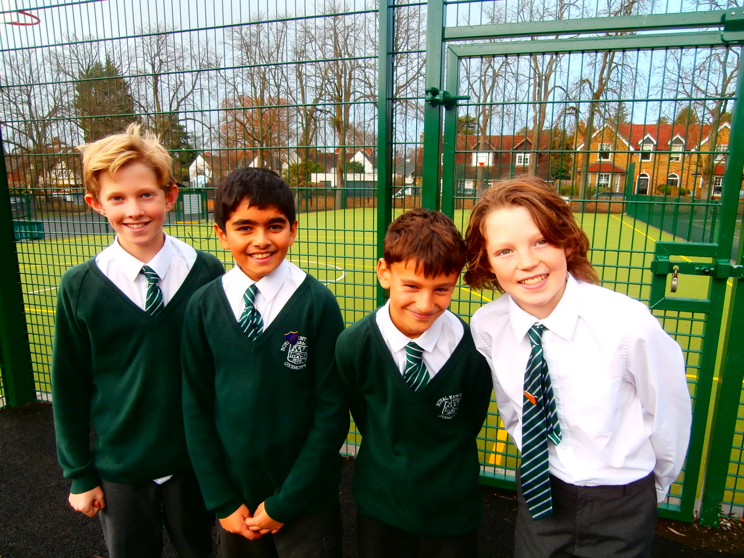 These Surrey children think their new MUGA pitch is a great success!
