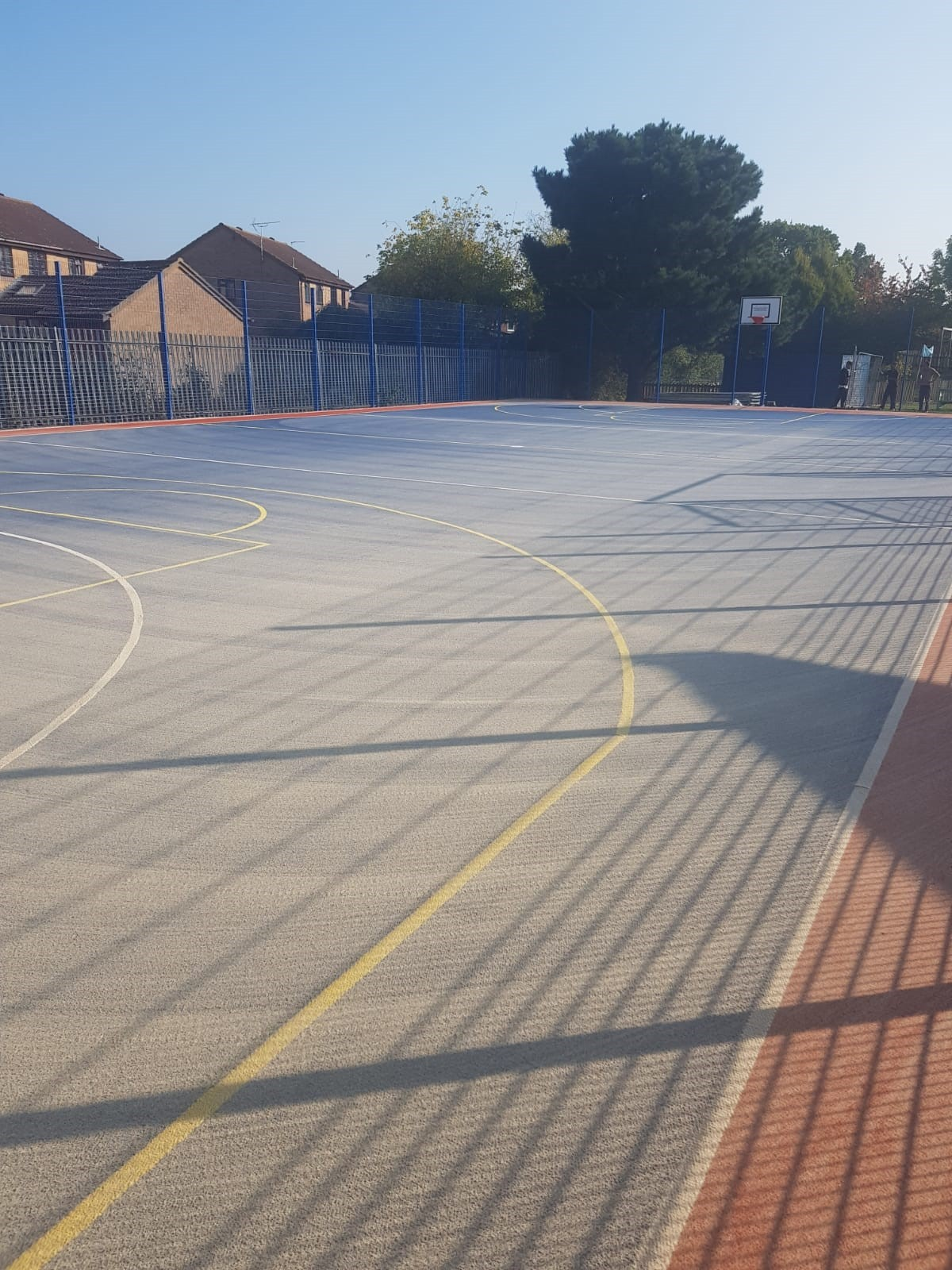 This recently installed MUGA pitch is ready for the children of Chelmsford