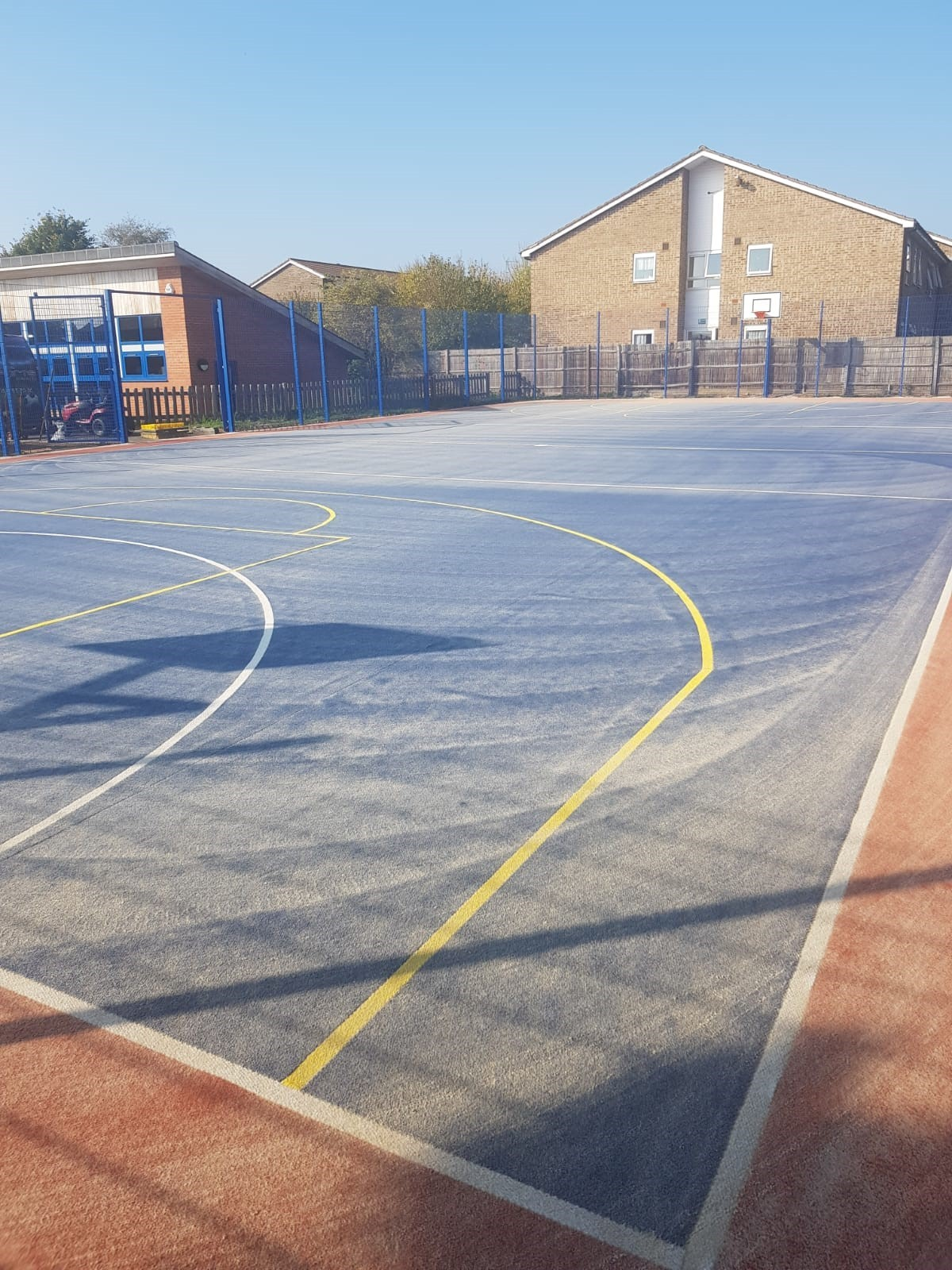 Recently completed MUGA and fencing works for Bishops Primary School in Essex