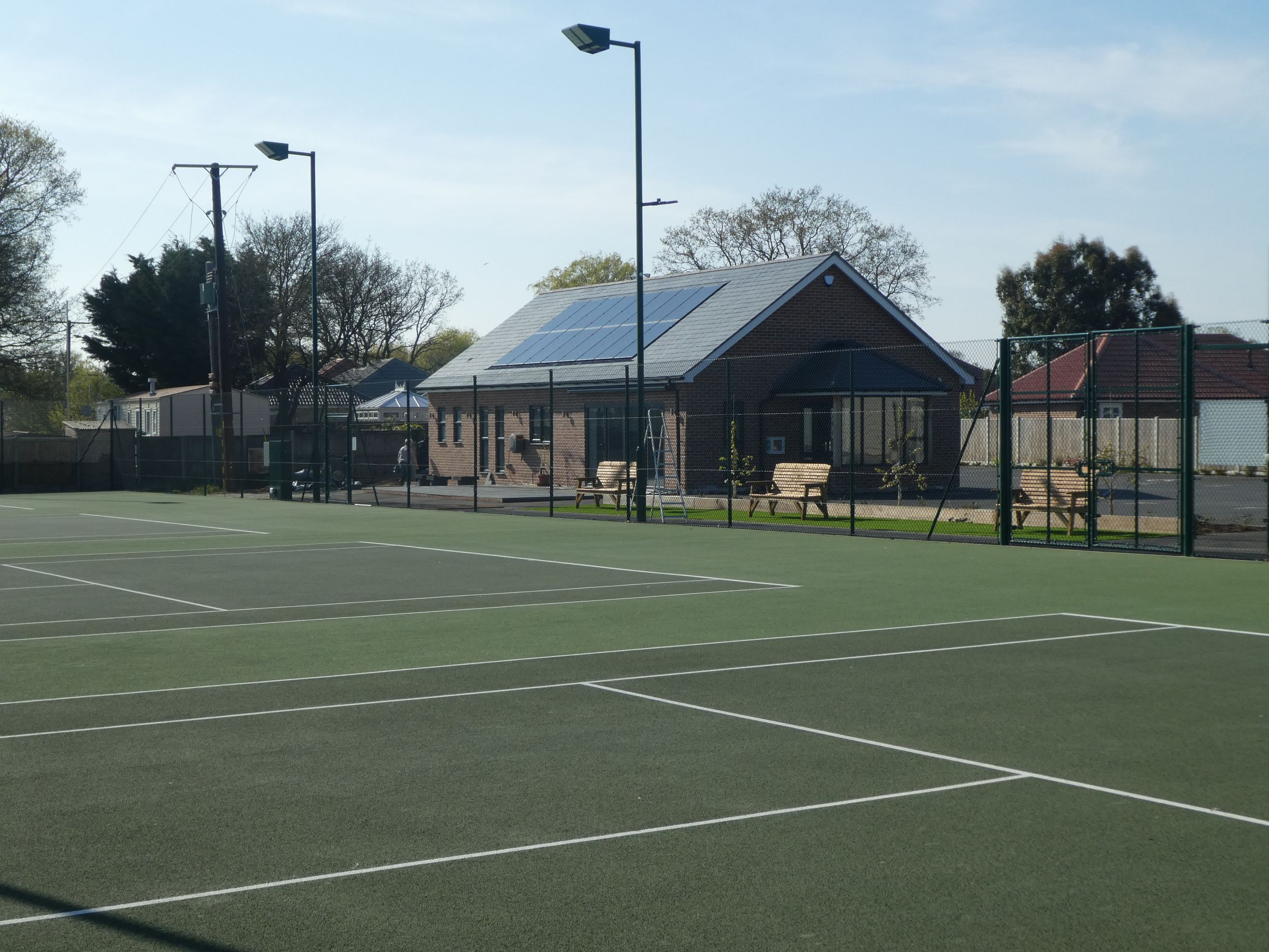 Little Clacton Tennis Club celebrated its 70th anniversary by revealing a major club upgrade, including four asphalt tennis courts and an eco-friendly clubhouse