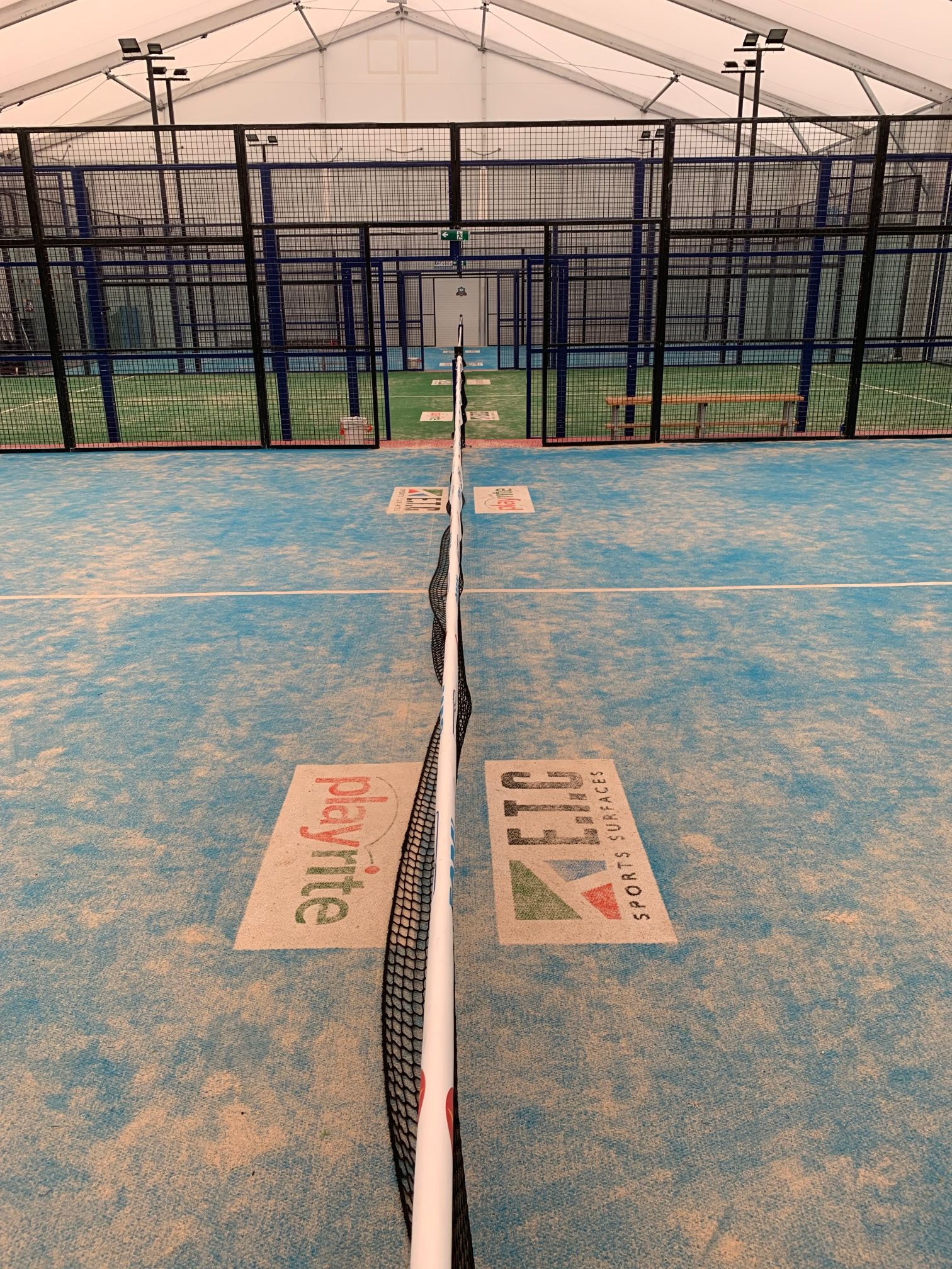 Power Padel, supplied through ETC Sports Surfaces, is a Padel court construction that can be easily lifted, moved and stored.
