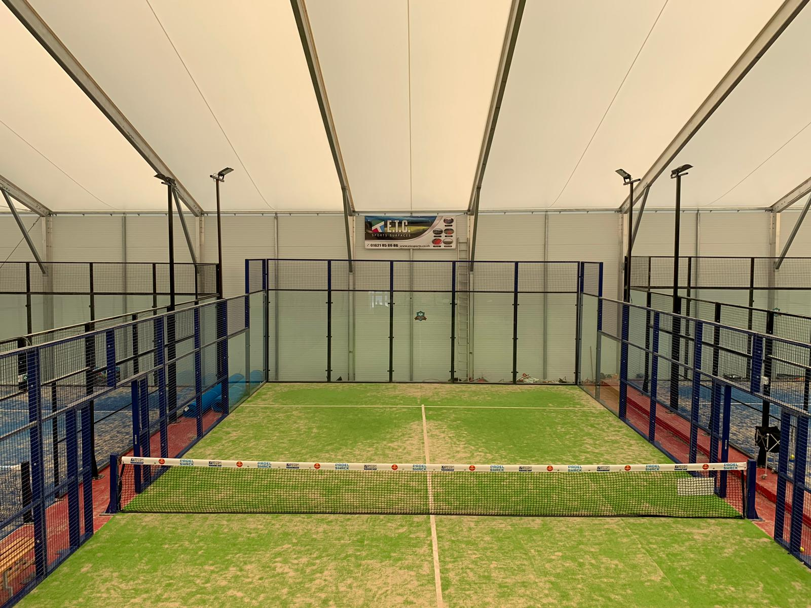 ETC Sports Surfaces supplies an award winning Padel tennis court construction, Power Padel, which can be easily moved and stored.