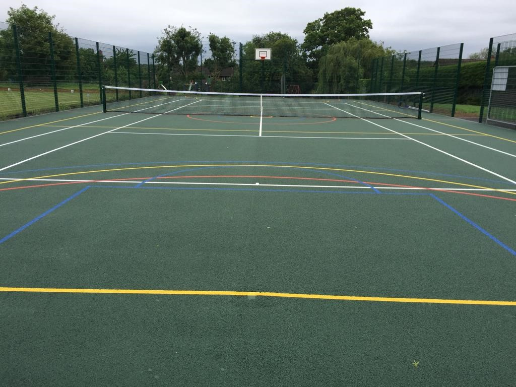 This multi use sports pitch requires very little asphalt court maintenance, making it a cost-effective community sports solution.