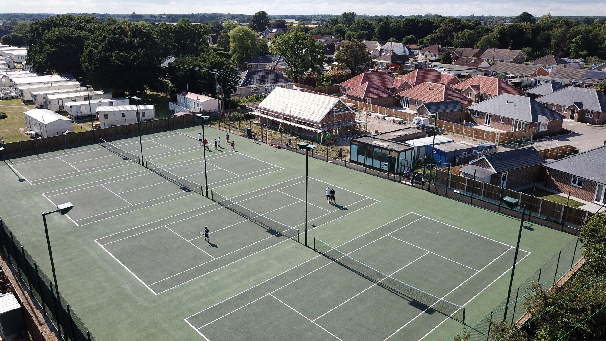 Modern asphalt courts are an ideal option for clubs requiring minimal tennis court maintenance