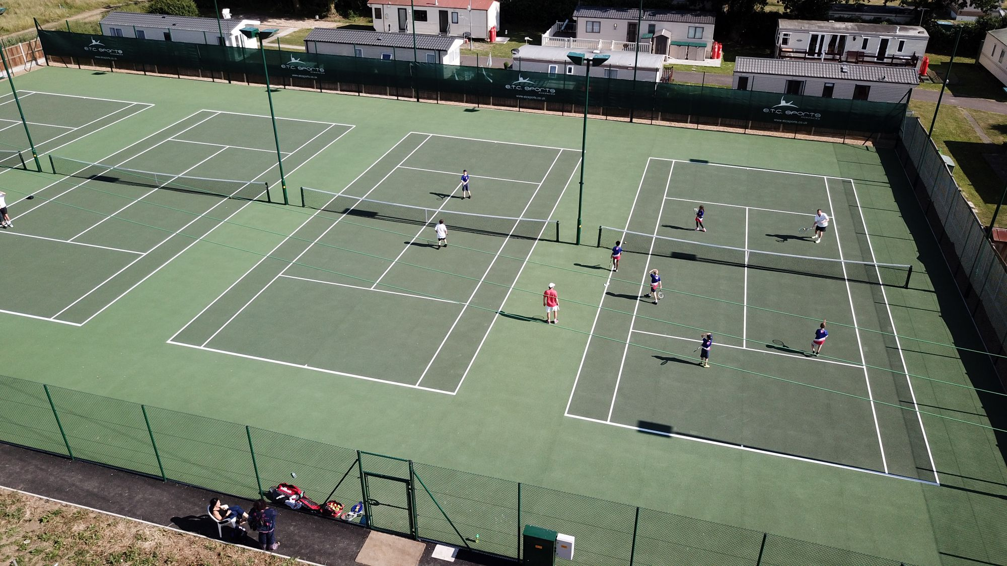Hardwearing asphalt tennis courts are an ideal solution for all-year-round play