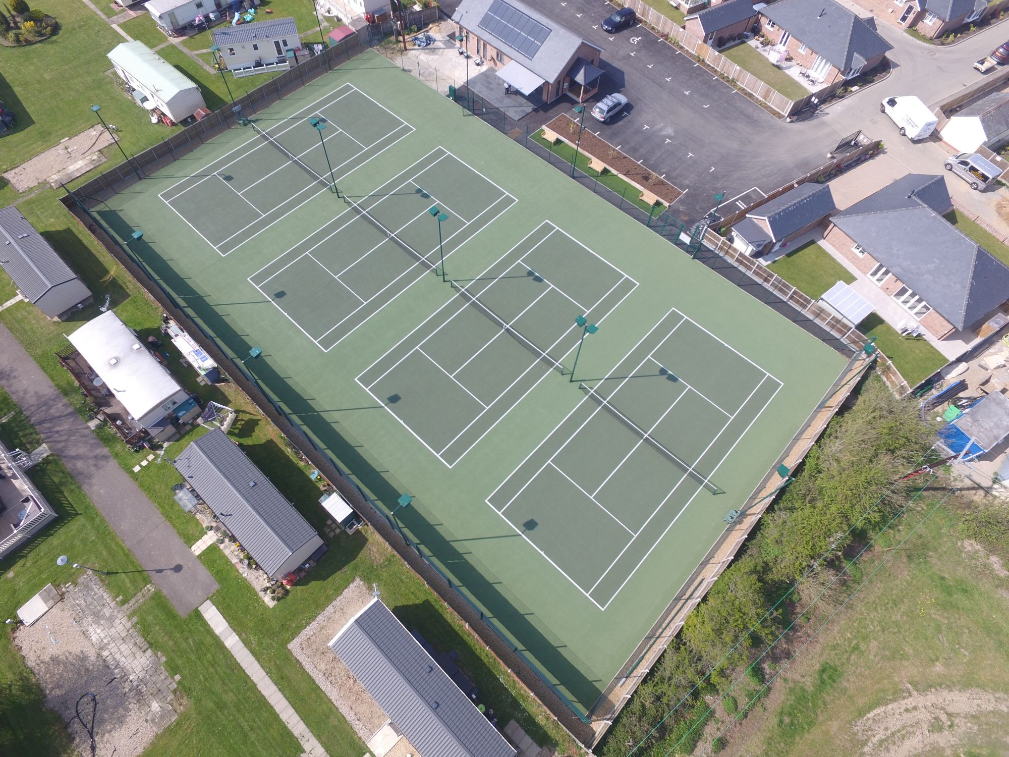 ETC Sports Surfaces supplied Little Clacton Tennis Club with hard tennis courts built to SAPCA specifications