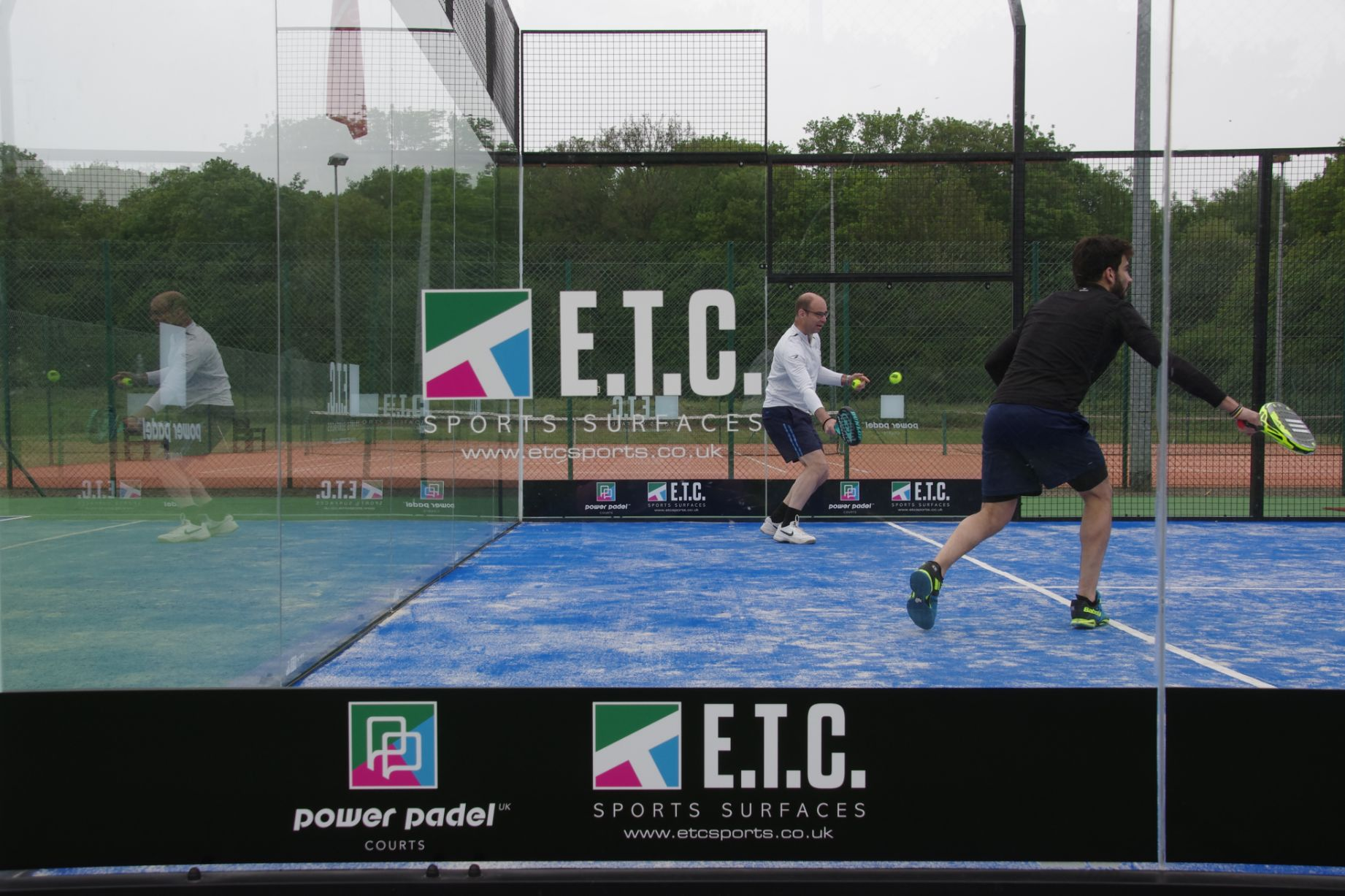 ETC Sports Surfaces are the only padel court suppliers offering Power Padel, a unique moveable, storable padel court system.