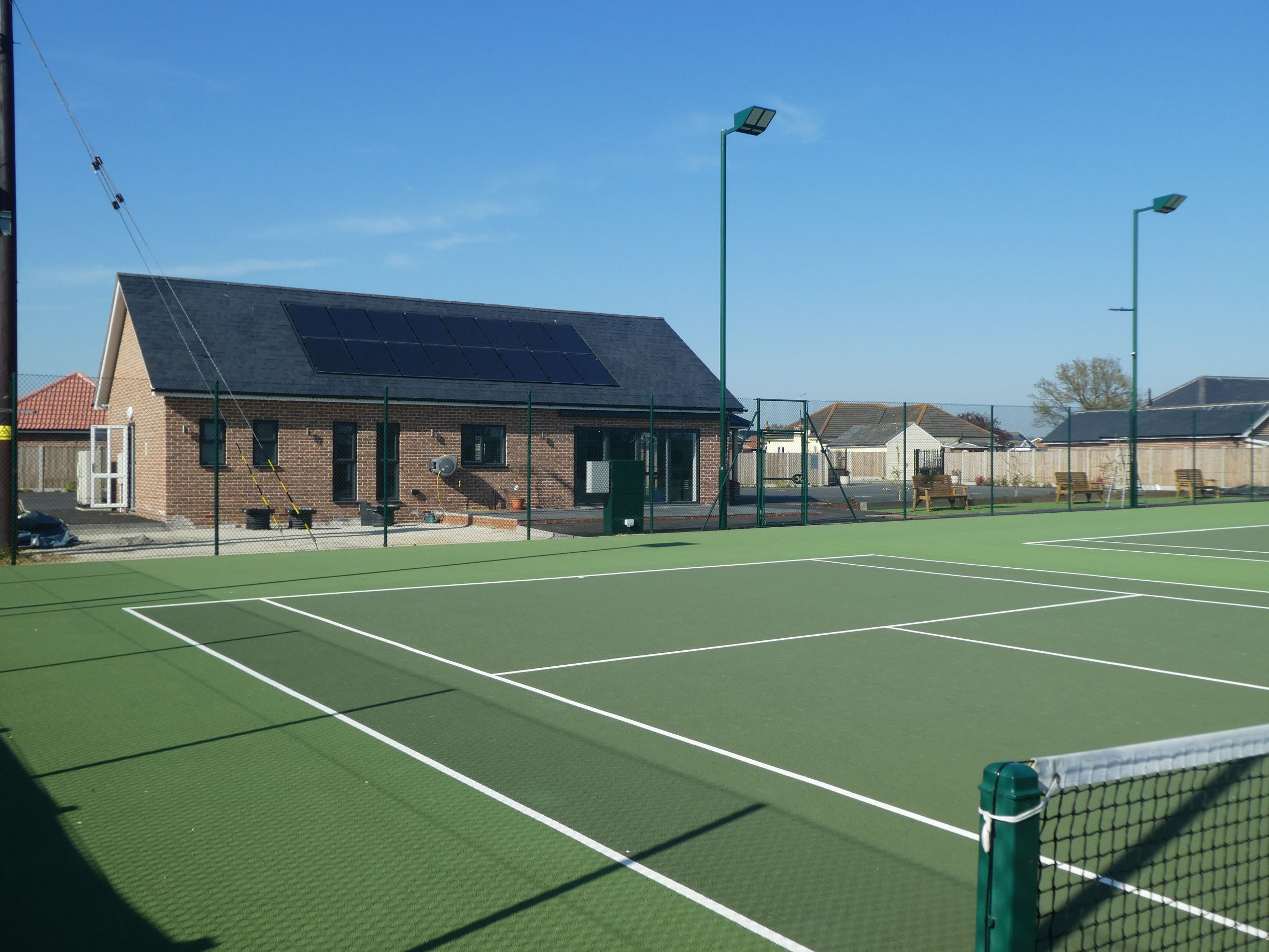 We designed and installed these industry leading asphalt tennis court surfaces as part of a major upgrade for an Essex tennis club