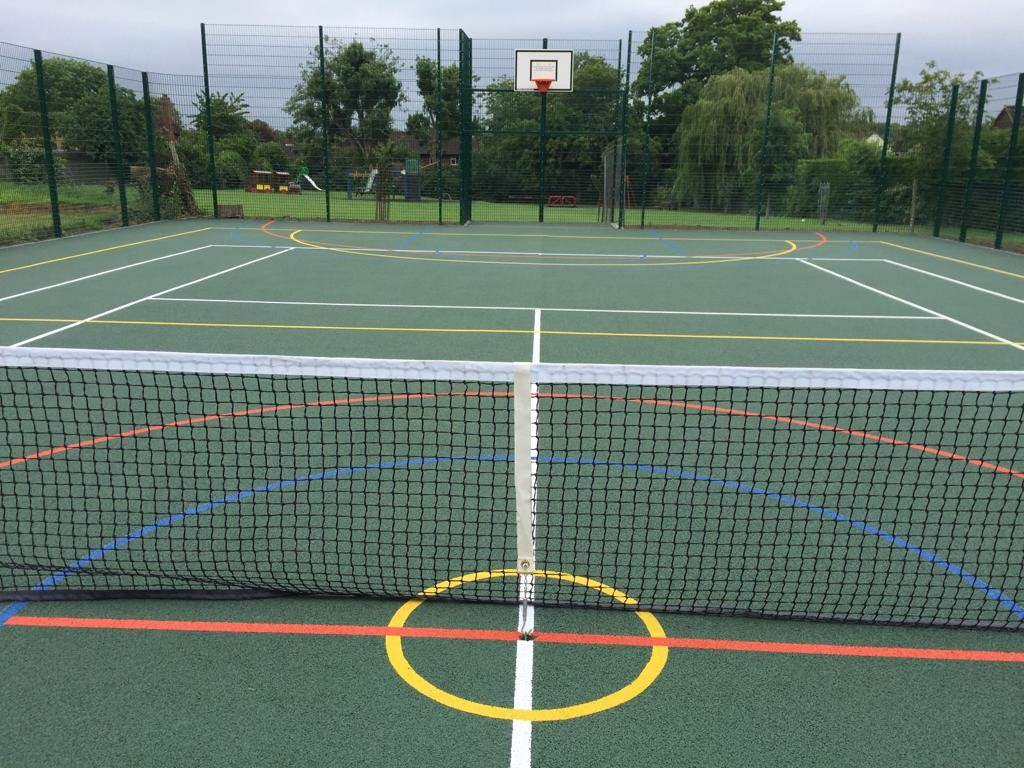 ETC Sports Surfaces recently installed this MUGA pitch, plus all associated fencing and equipment.