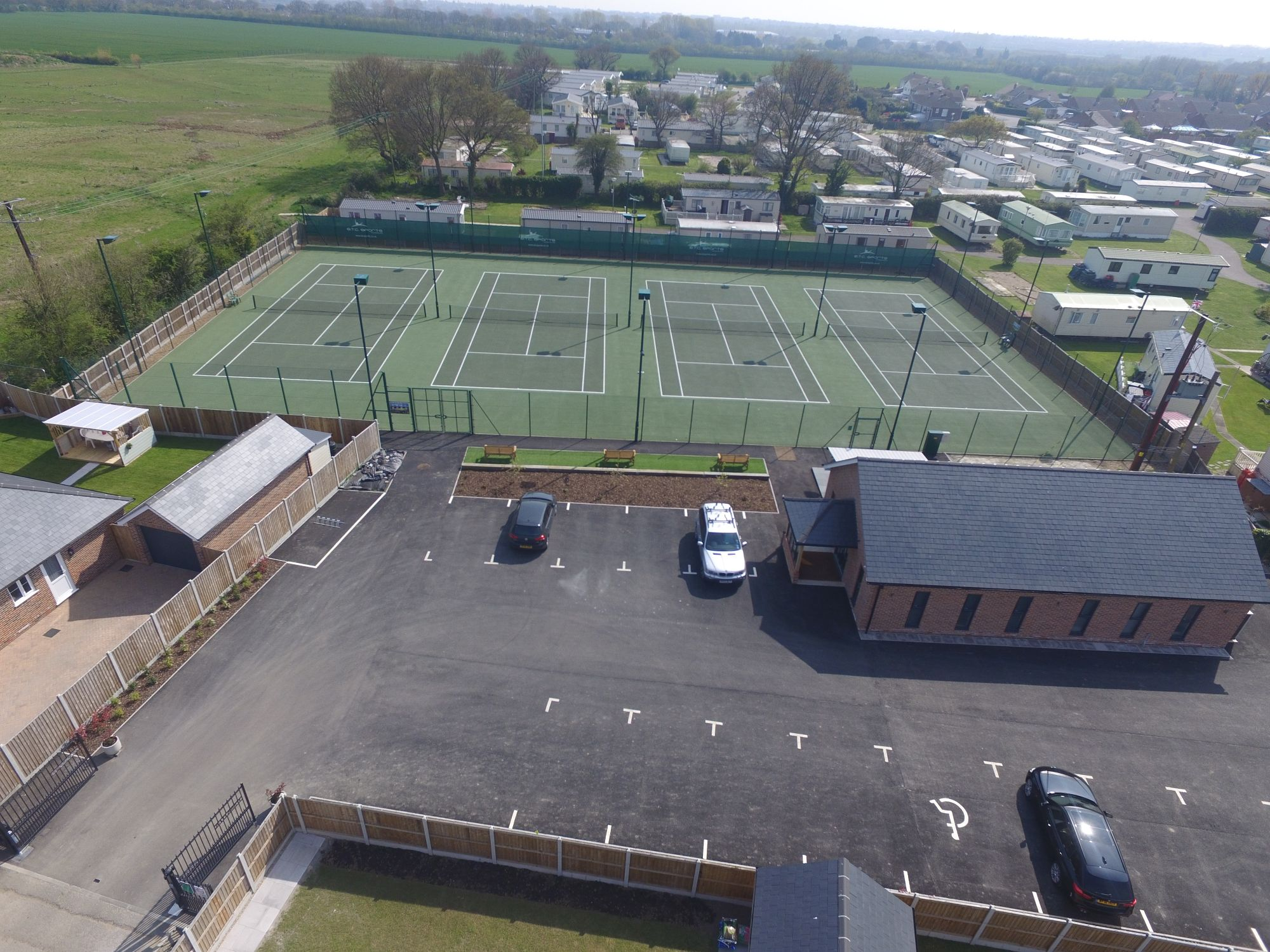 Little Clacton Tennis Club in Essex recently contracted ETC Sports surfaces to install new asphalt tennis court surfaces and facilities as part of a major upgrade