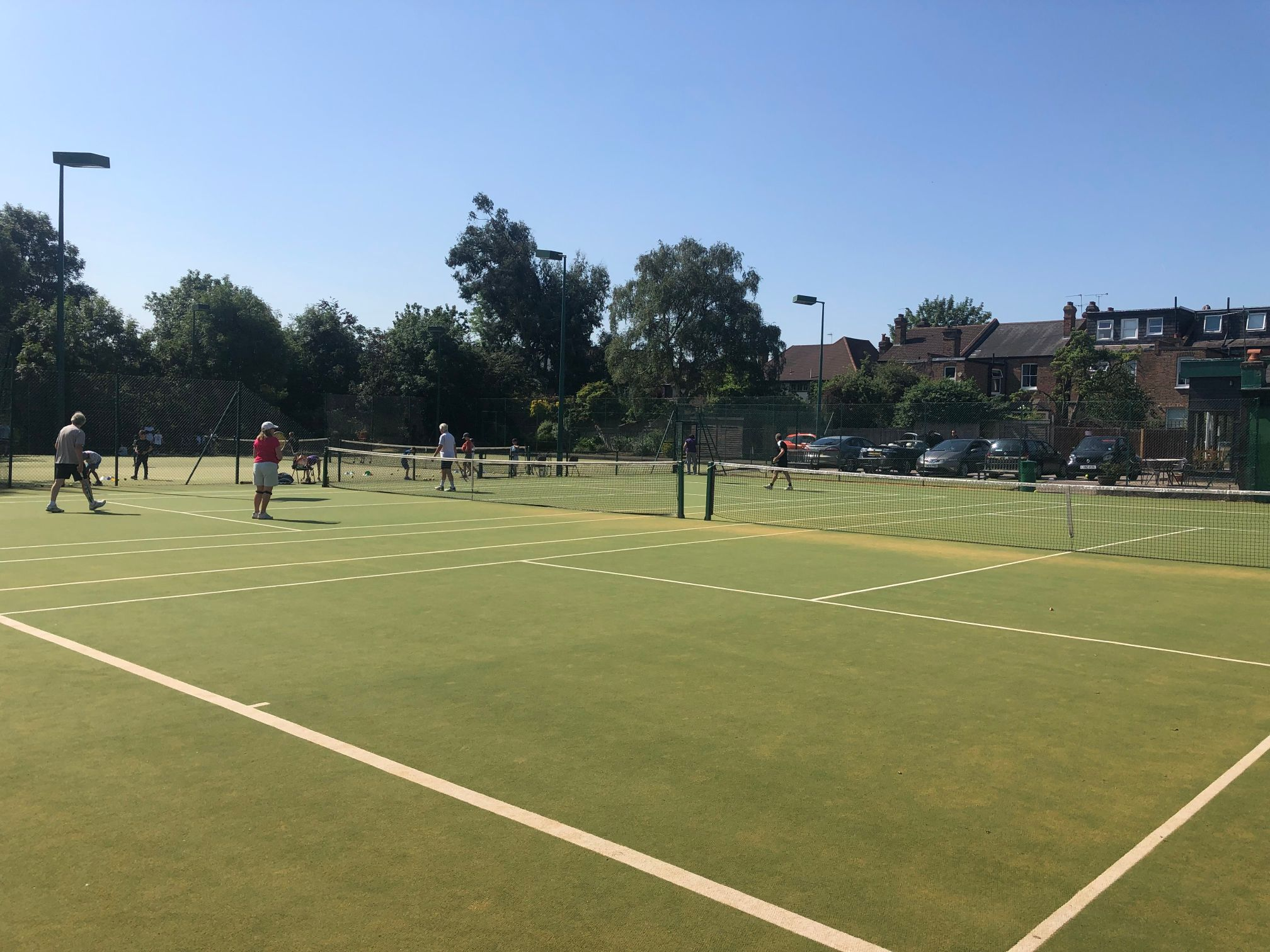 Members at Our Lady of Muswell Hill LTC are delighted with their new Playrite Matchplay 2 courts.