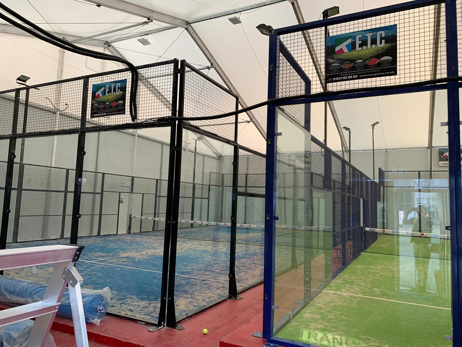 A Power Padel court construction can be installed in both indoor and outdoor tennis venues.